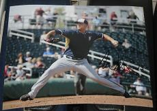 Will Smith Milwaukee Brewers SIGNED Retro 8x10 Photo COA Autographed Baseball