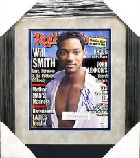 Will Smith PSADNA Signed Autographed Framed Rolling Stone Magazine Cover T35661