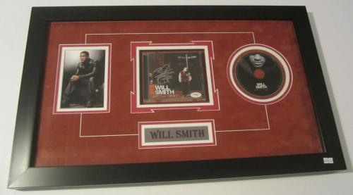 Will Smith Rare Signed Autographed Framed Lost And Found Cd Book Jsa Coa