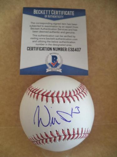 Will Smith San Francisco Giants Signed Autographed M.l. Baseball Beckett E32407