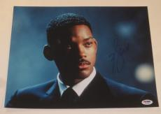 Will Smith Signed 11x14 Photo Men In Black Fresh Prince Autograph Psa/dna Coa