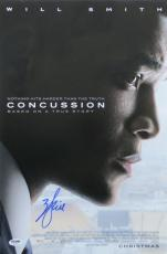 Will Smith Signed Authentic Concussion Autographed 12x18 Poster PSA/DNA #AB16101