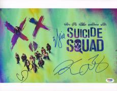 Will Smith Signed Auto'd 11x14 Photo Psa/dna Suicide Squad Cast Adam Beach Cara