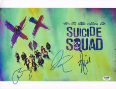 Will Smith Signed Auto'd 11x14 Photo Psa/dna Suicide Squad Cast Adam Beach Joel