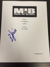 "Will Smith Signed Autograph Rare ""men In Black"" Complete Movie Script With Coa"