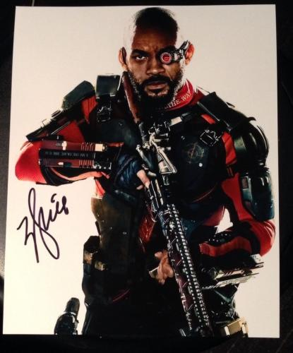 Will Smith Signed Autograph Suicide Squad Classic Pose Promo Poster Photo Coa
