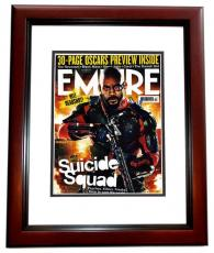 Will Smith Signed - Autographed Suicide Squad 11x14 Photo MAHOGANY CUSTOM FRAME