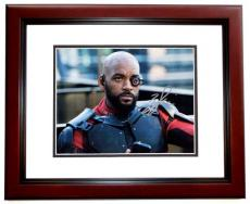 Will Smith Signed - Autographed Suicide Squad 8x10 Photo as Deadshot - MAHOGANY CUSTOM FRAME