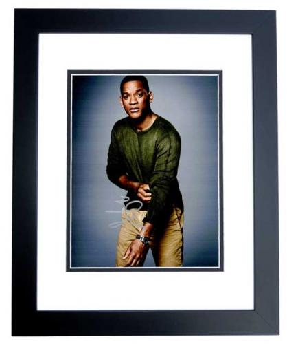 Will Smith Signed - Autographed Suicide Squad Actor 8x10 inch Photo BLACK CUSTOM FRAME - Guaranteed to pass PSA or JSA