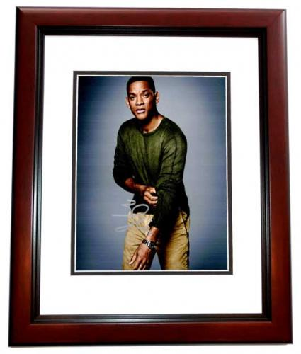 Will Smith Signed - Autographed Suicide Squad Actor 8x10 inch Photo MAHOGANY CUSTOM FRAME - Guaranteed to pass PSA or JSA