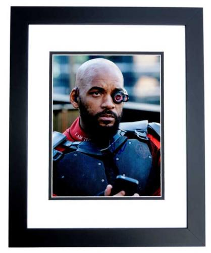 Will Smith Signed - Autographed Suicide Squad - Deadshot 8x10 inch Photo BLACK CUSTOM FRAME - Guaranteed to pass PSA or JSA