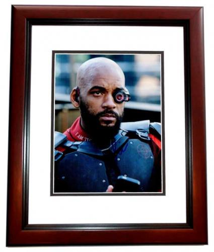 Will Smith Signed - Autographed Suicide Squad - Deadshot 8x10 inch Photo MAHOGANY CUSTOM FRAME - Guaranteed to pass PSA or JSA