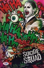 Will Smith Signed Joker *Suicide Squad* 8x12 Photo PSA AC45825