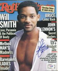 Will Smith Signed Magazine 1998 Rolling Stone Autographed Psa/dna #p55425