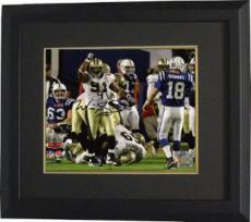 Will Smith signed New Orleans Saints 8x10 Photo (Super Bowl XLIV) Custom Framed- Smith Hologram