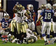 Will Smith signed New Orleans Saints 8x10 Photo (Super Bowl XLIV)- Smith Hologram