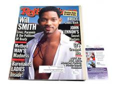 Will Smith Signed Rolling Stone Magazine 12/10/98 JSA Auto
