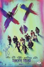 """WILL SMITH Signed """"SUICIDE SQUAD"""" 12x18 Photo Poster PSA/DNA #AB42361"""
