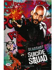 Will Smith Signed Suicide Squad Authentic Auto 11x14 Photo PSA/DNA #AB92535
