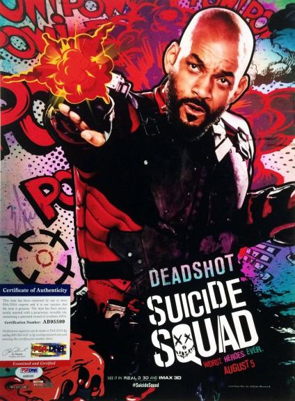 Will Smith Suicide Squad Autographed Signed 11x14 Photo PSA/DNA AB95599
