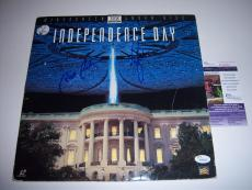 Will Smith,bill Pullman Independence Say Jsa/coa Signed Lp Laserdisc Album