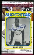 Wille Mays Baseball Superstar Card Jsa Coa Hand Signed Authentic Autograph