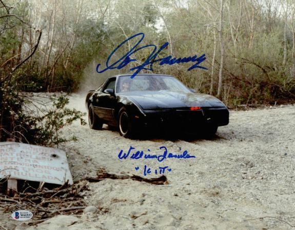 William Daniels David Hasselhoff Autograph Signed Knight Rider 11x14 Beckett 3