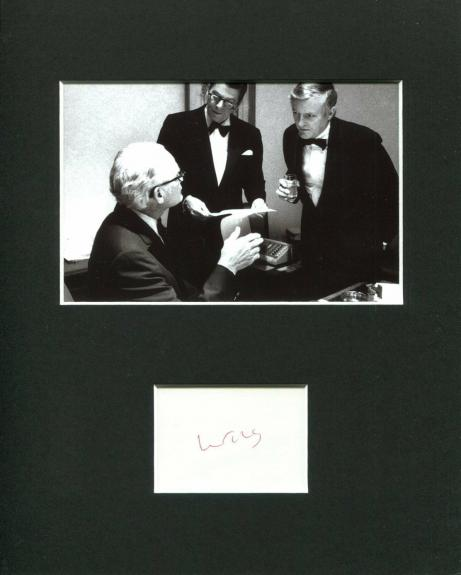 William F. Buckley Jr. Author Signed Autograph Photo Display With Ronald Reagan