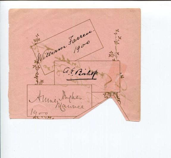 William Farren Jr Annie Hughes Actors & Unknowns Signed Autograph