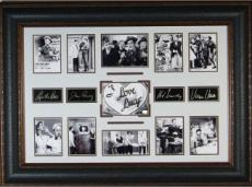 William Frawley unsigned I Love Lucy 27x39 Cast Multi-Photo Engraved Signature Series Leather Framed (entertainment)