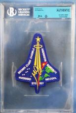 William McCool STS 107 Columbia Signed Crew Patch Autograph JSA BGS Authentic