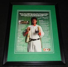 William Sanderson Facsimile Signed Framed 1989 A&W Root Beer Advertising Display