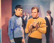 William Shatner and Leonard Nimoy Autographed STAR TREK 8x10 Photo