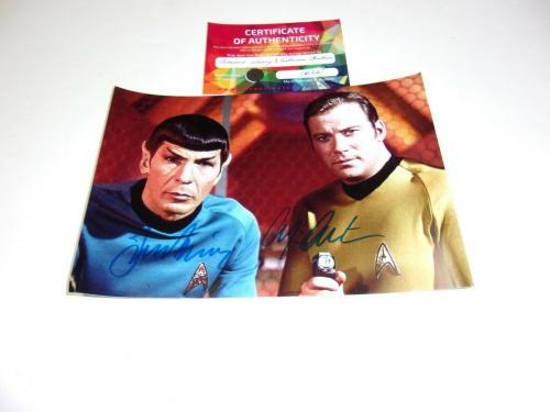 William Shatner And Leonard Nimoy Star Trek W/coa Signed Photo