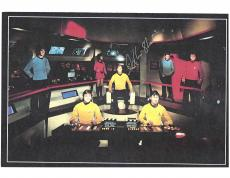 "WILLIAM SHATNER as JAMES T. KIRK in ""STAR TREK"" Signed 11x8.5 Color Paper Thin"