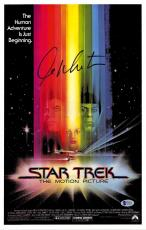 "William Shatner Autographed 12"" x 18"" Stark Trek The Motion Picture Movie Poster - Beckett COA"