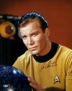 "William Shatner Autographed 16"" x 20"" Star Trek Posing Photograph - Beckett COA"