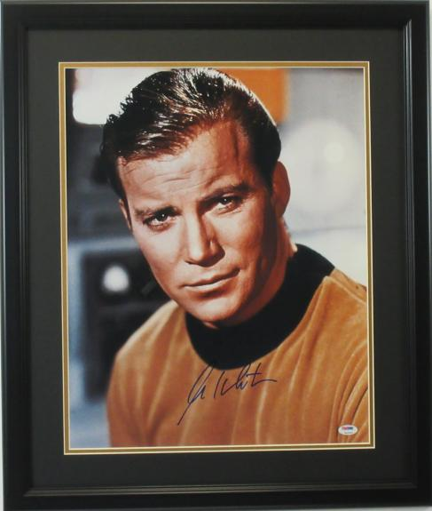William Shatner Autographed 16x20 Close Up  photo framed