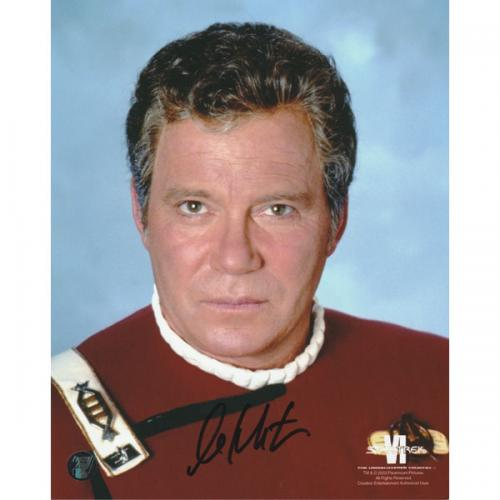 William Shatner Autographed Star Trek 8X10 Photo (Star Trek 6)