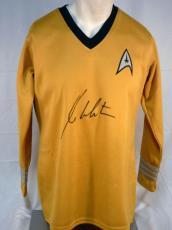 William Shatner Autographed Captain Kirk Uniform Shirtjsa