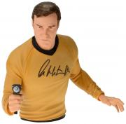 William Shatner Autographed Captain Kirk Vinyl Bust Bank - Beckett COA