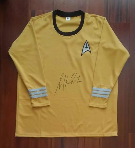 William Shatner Autographed Signed Gold Uniform Star Trek JSA
