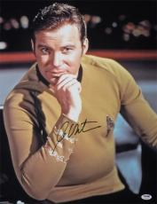 William Shatner Autographed Star Trek 10157 16x20 Photo (thinking Man) Psa