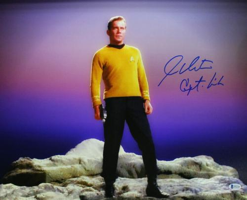 William Shatner Autographed Star Trek 16x20 Photo Capt Kirk BAS 25032