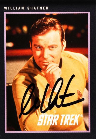 William Shatner Autographed Star Trek #263 Card - Beckett COA