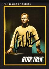 William Shatner Autographed Star Trek #35 Card - Beckett COA