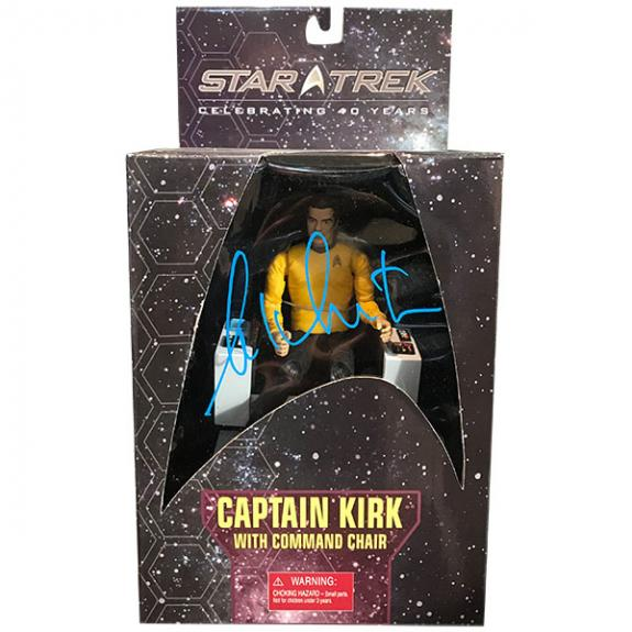 William Shatner Autographed Star Trek 40th Anniversary Figure (with Command Chair)