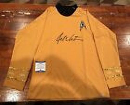 William Shatner Autographed Star Trek Captain Kirk Gold Uniform Shirt Beckett