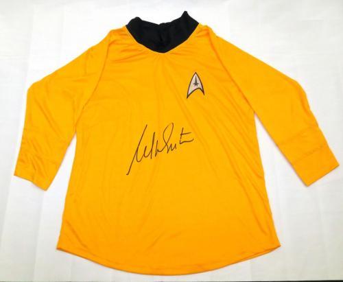 William Shatner Autographed Star Trek Captain Kirk Shirt Beckett Authenticated
