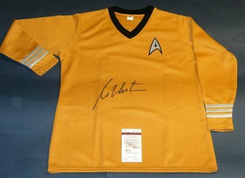 William Shatner Autographed Star Trek Captain Kirk Shirt Uss Enterprise Jsa